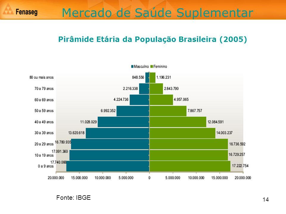 Pirâmide Etária da População Brasileira (2005)