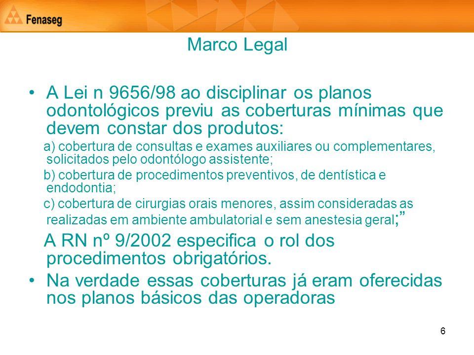 A RN nº 9/2002 especifica o rol dos procedimentos obrigatórios.