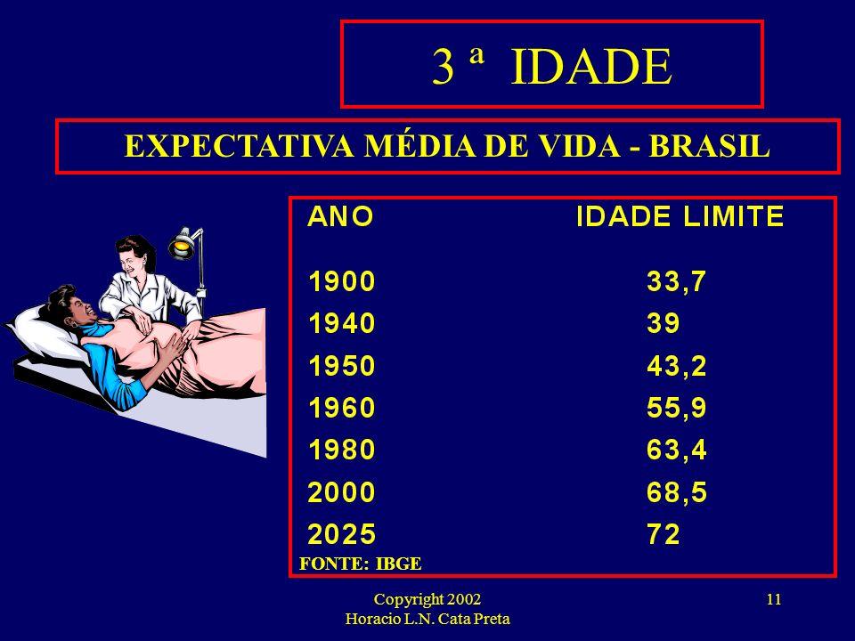 EXPECTATIVA MÉDIA DE VIDA - BRASIL