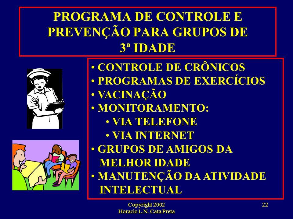 PROGRAMA DE CONTROLE E PREVENÇÃO PARA GRUPOS DE 3ª IDADE