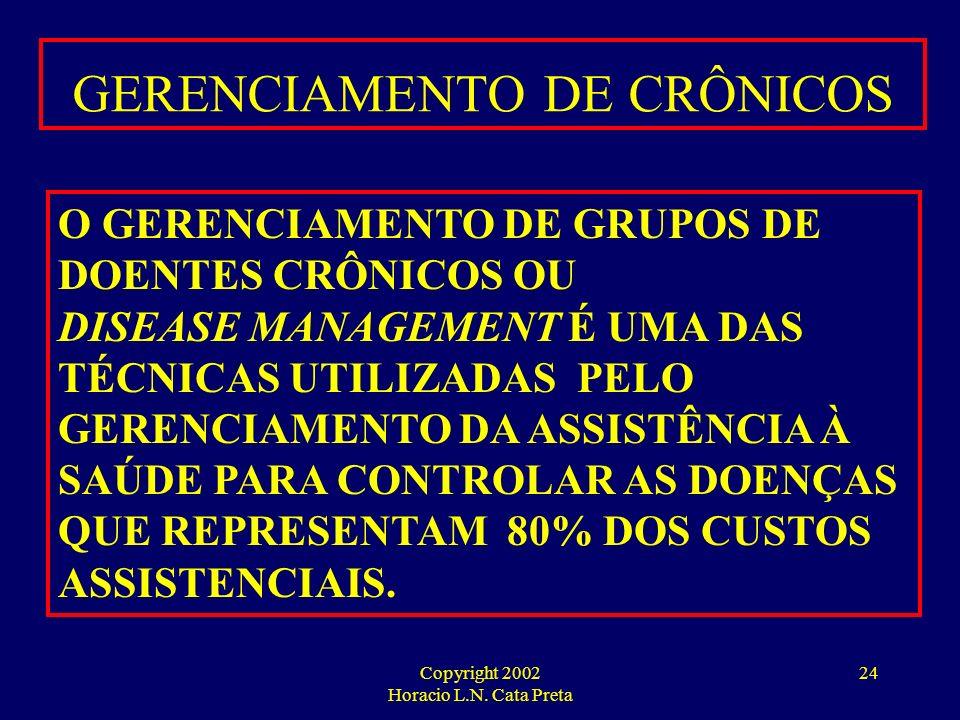 GERENCIAMENTO DE CRÔNICOS