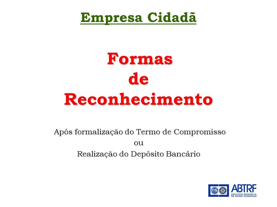 de Reconhecimento Empresa Cidadã Formas