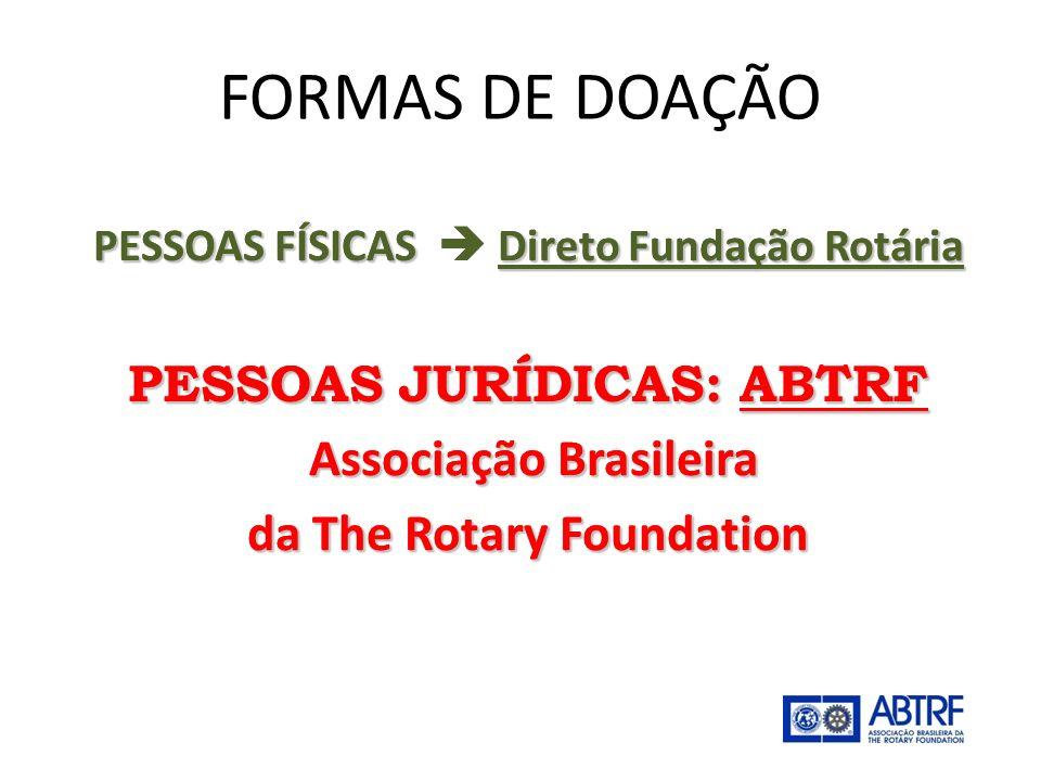 FORMAS DE DOAÇÃO PESSOAS JURÍDICAS: ABTRF Associação Brasileira