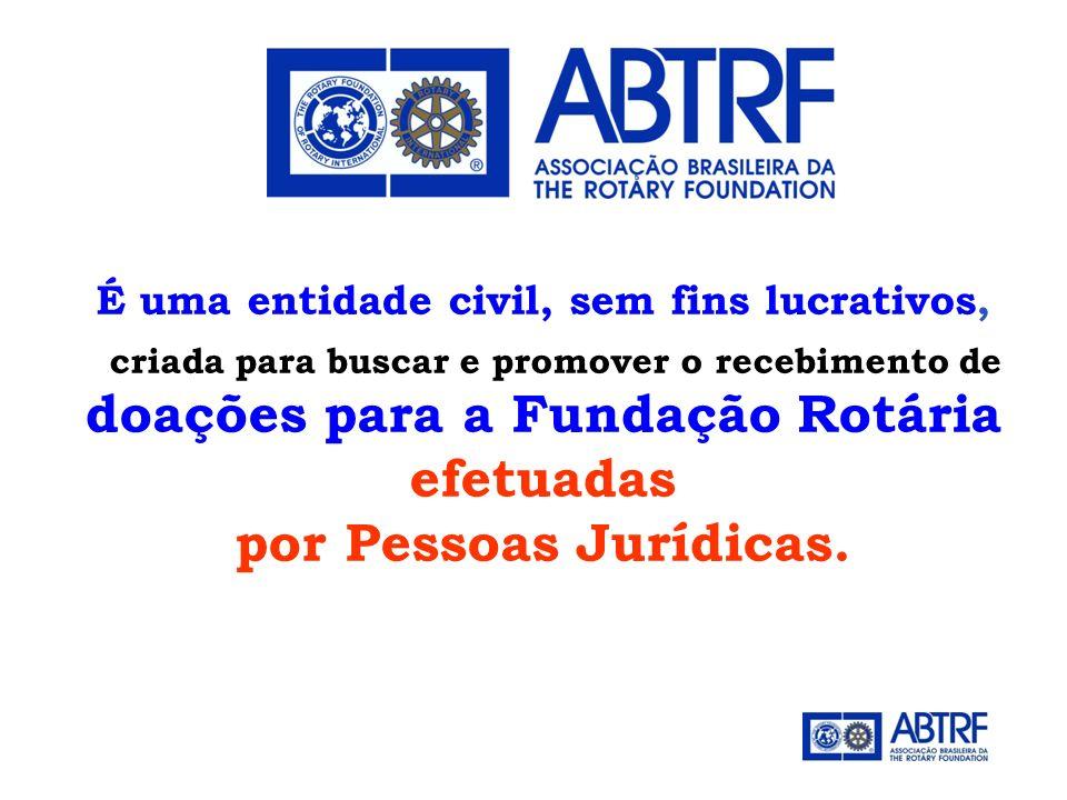 doações para a Fundação Rotária efetuadas por Pessoas Jurídicas.