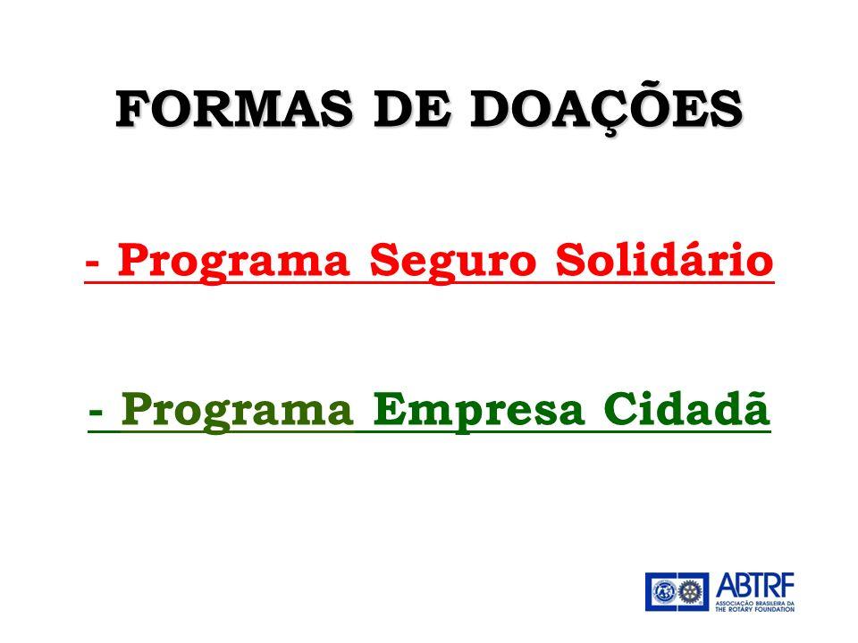 - Programa Seguro Solidário - Programa Empresa Cidadã