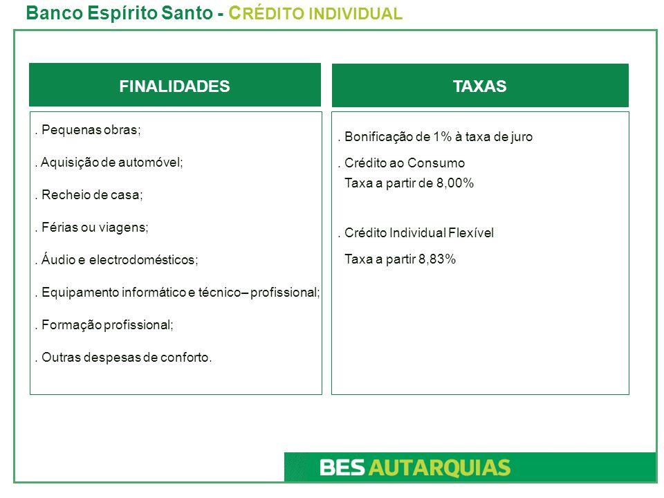 Banco Espírito Santo - CRÉDITO INDIVIDUAL