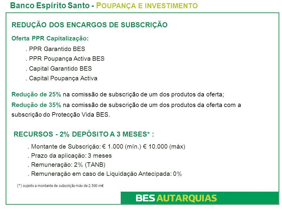 Banco Espírito Santo - POUPANÇA E INVESTIMENTO
