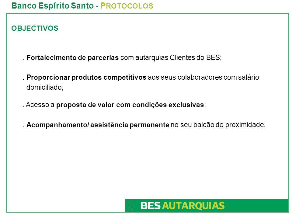 Banco Espírito Santo - PROTOCOLOS