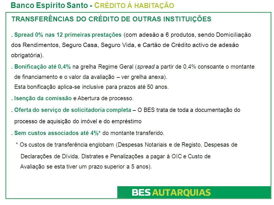 Banco Espírito Santo - CRÉDITO À HABITAÇÃO