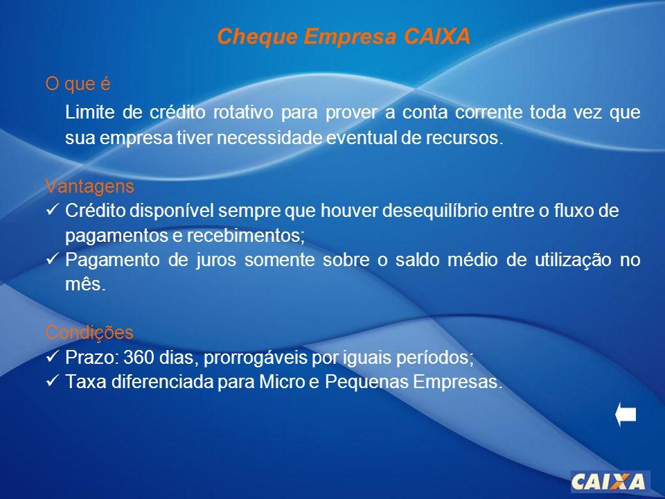 Cheque Empresa CAIXA O que é.