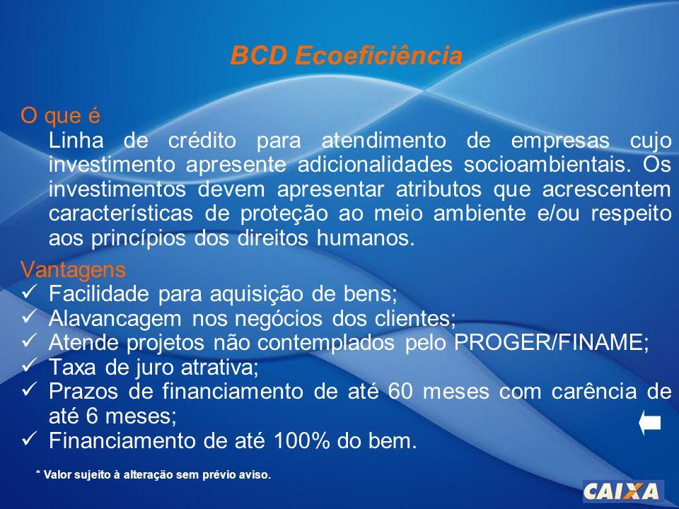 BCD Ecoeficiência O que é