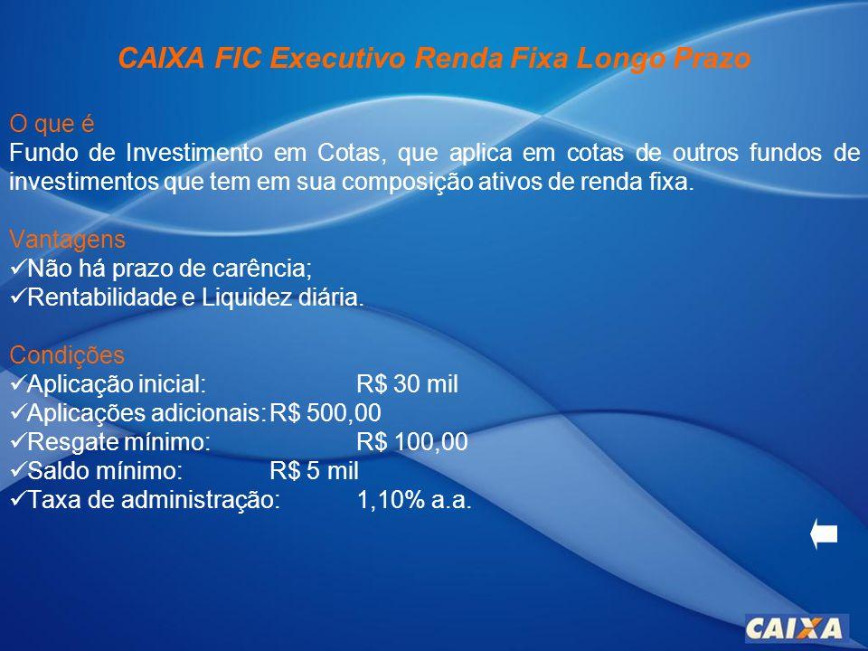 CAIXA FIC Executivo Renda Fixa Longo Prazo