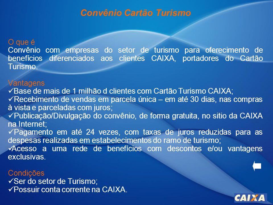 Convênio Cartão Turismo