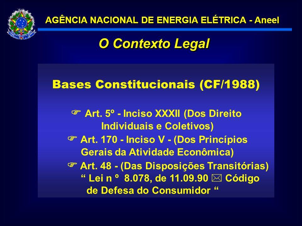 O Contexto Legal Bases Constitucionais (CF/1988)