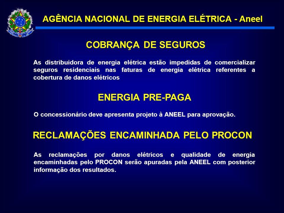 RECLAMAÇÕES ENCAMINHADA PELO PROCON
