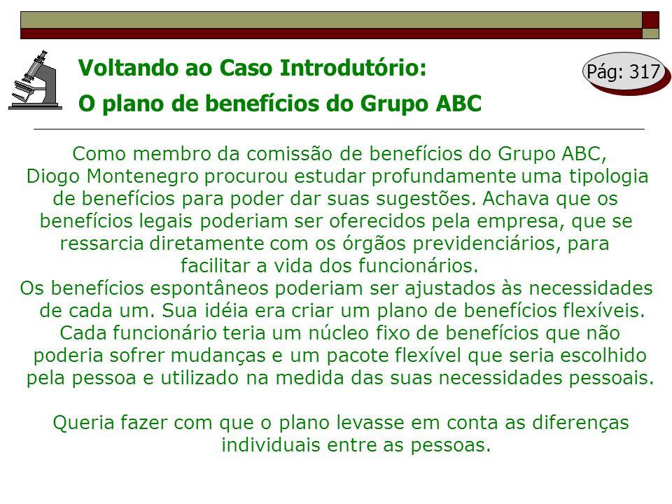 Voltando ao Caso Introdutório: O plano de benefícios do Grupo ABC