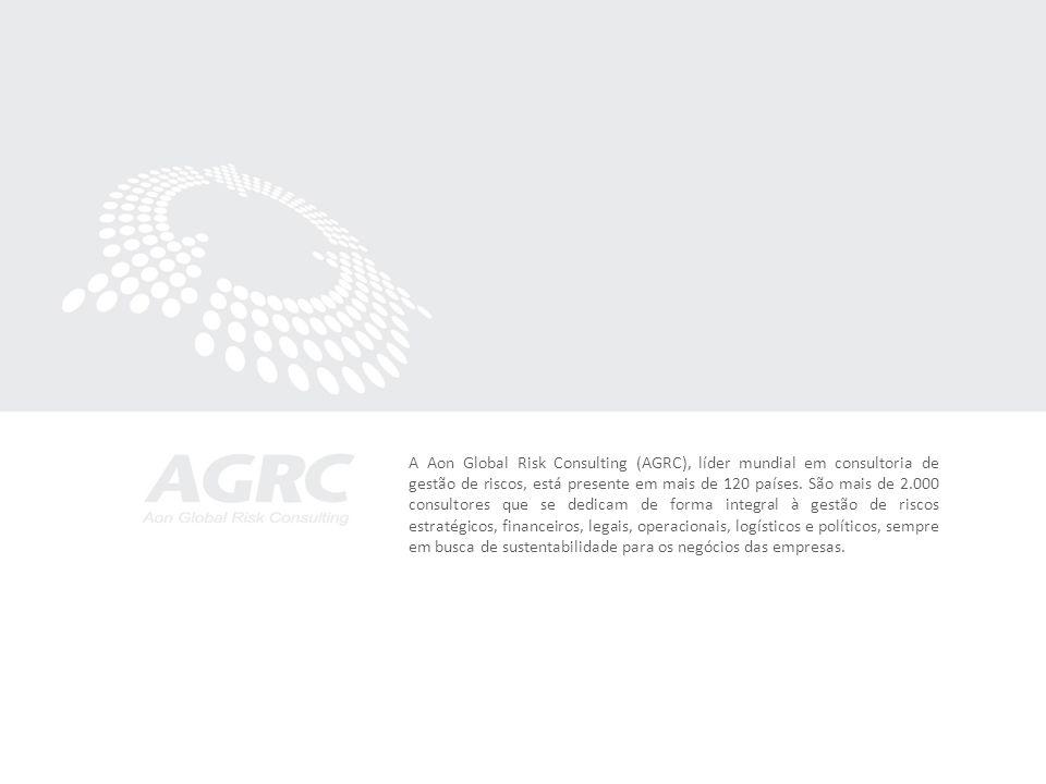 A Aon Global Risk Consulting (AGRC), líder mundial em consultoria de gestão de riscos, está presente em mais de 120 países.