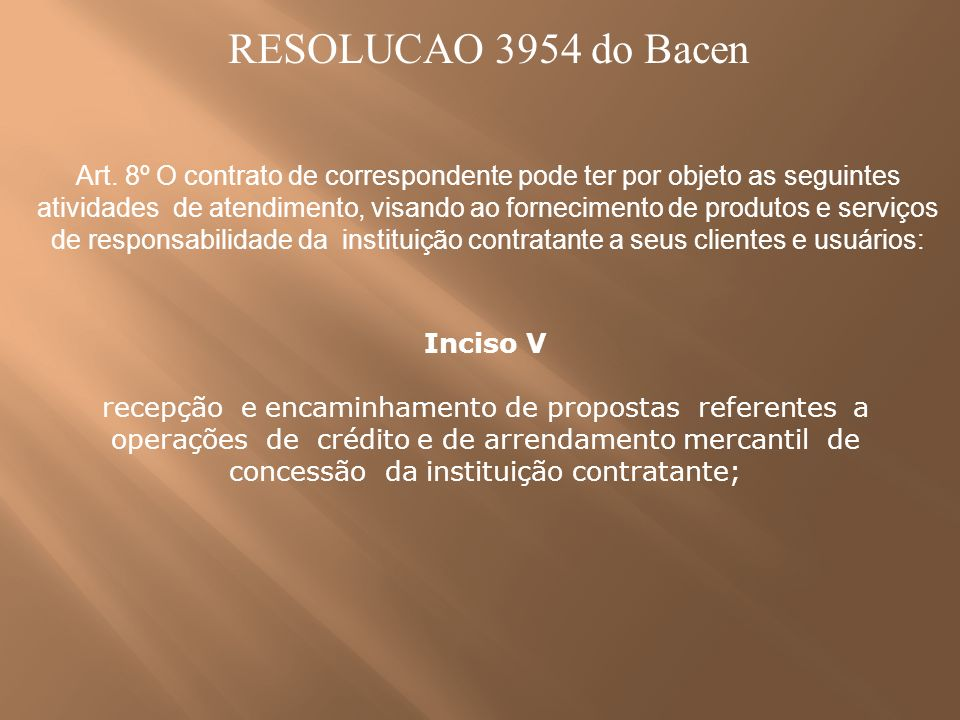 RESOLUCAO 3954 do Bacen