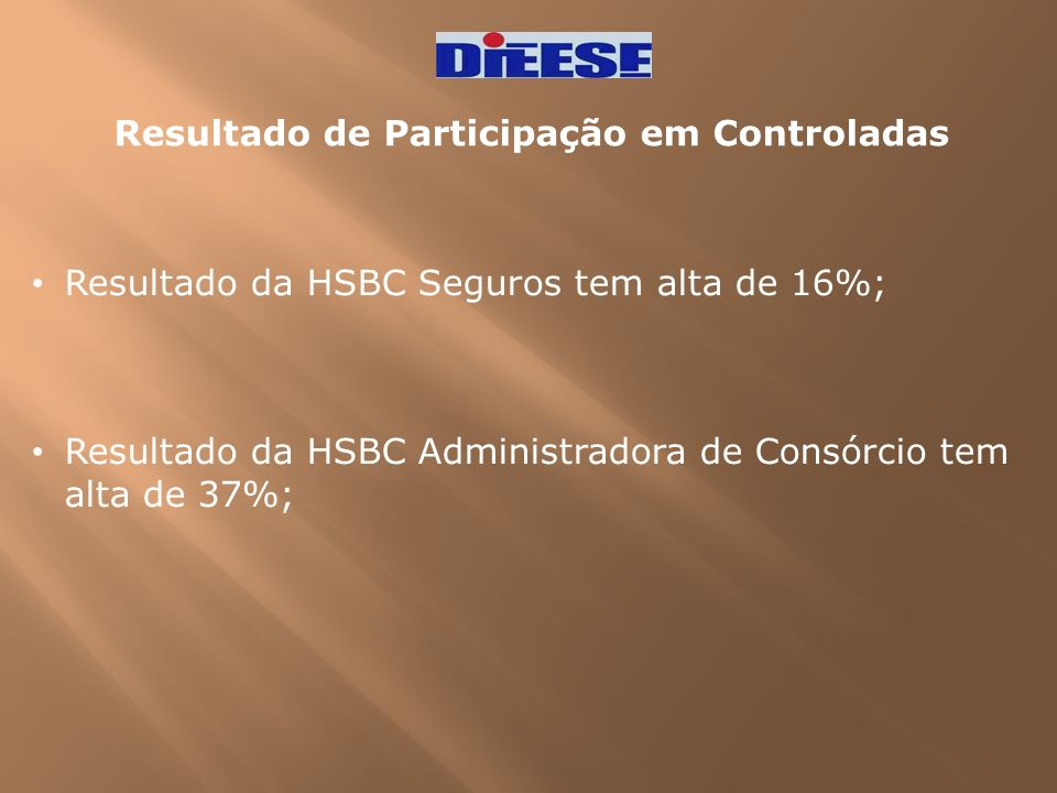 Resultado de Participação em Controladas