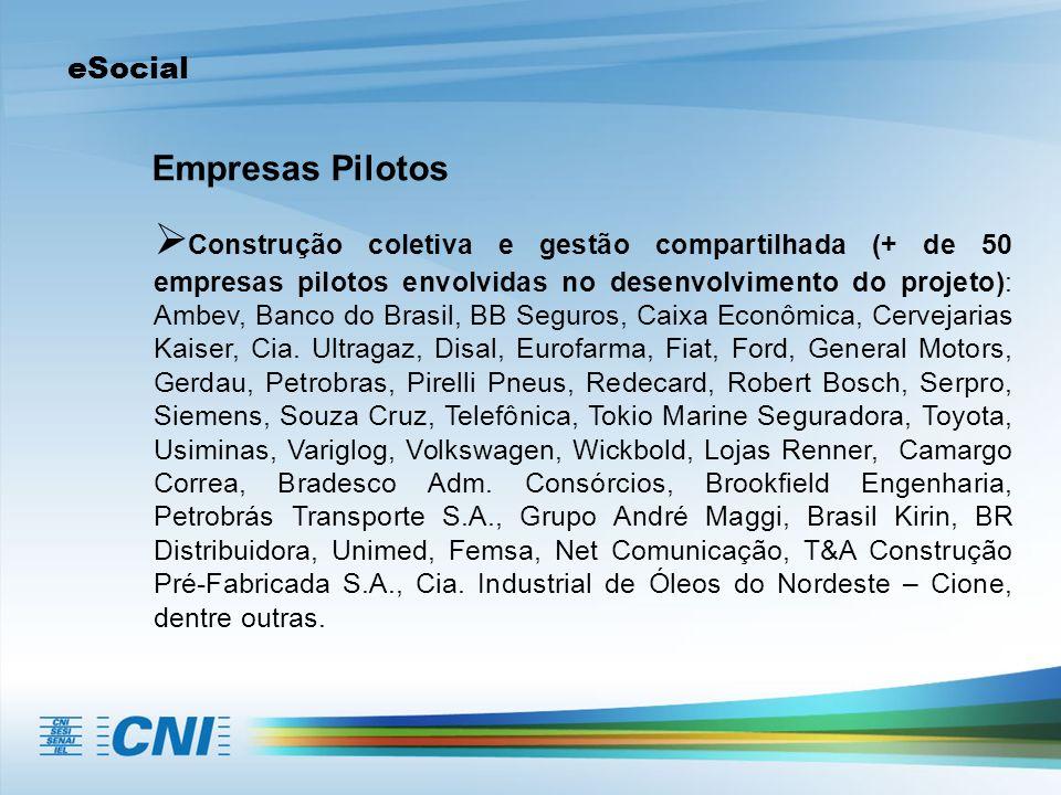 eSocial Empresas Pilotos.