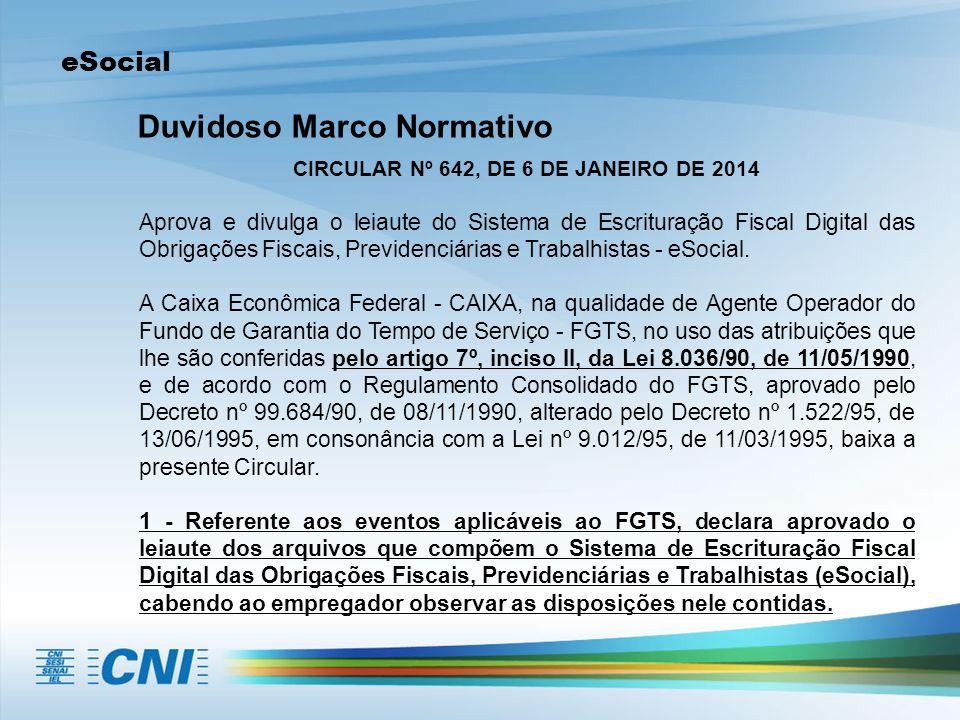 CIRCULAR Nº 642, DE 6 DE JANEIRO DE 2014