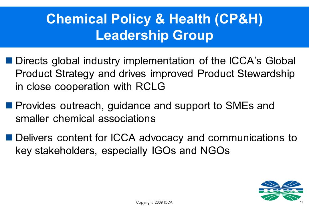 Chemical Policy & Health (CP&H) Leadership Group