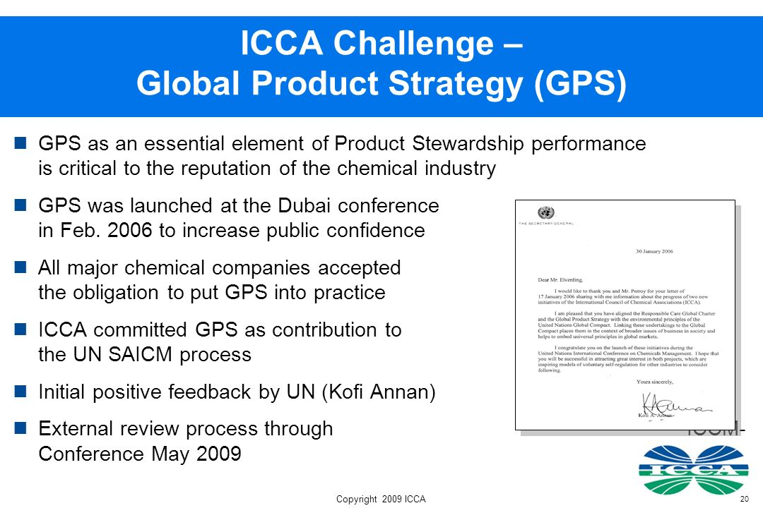 ICCA Challenge – Global Product Strategy (GPS)