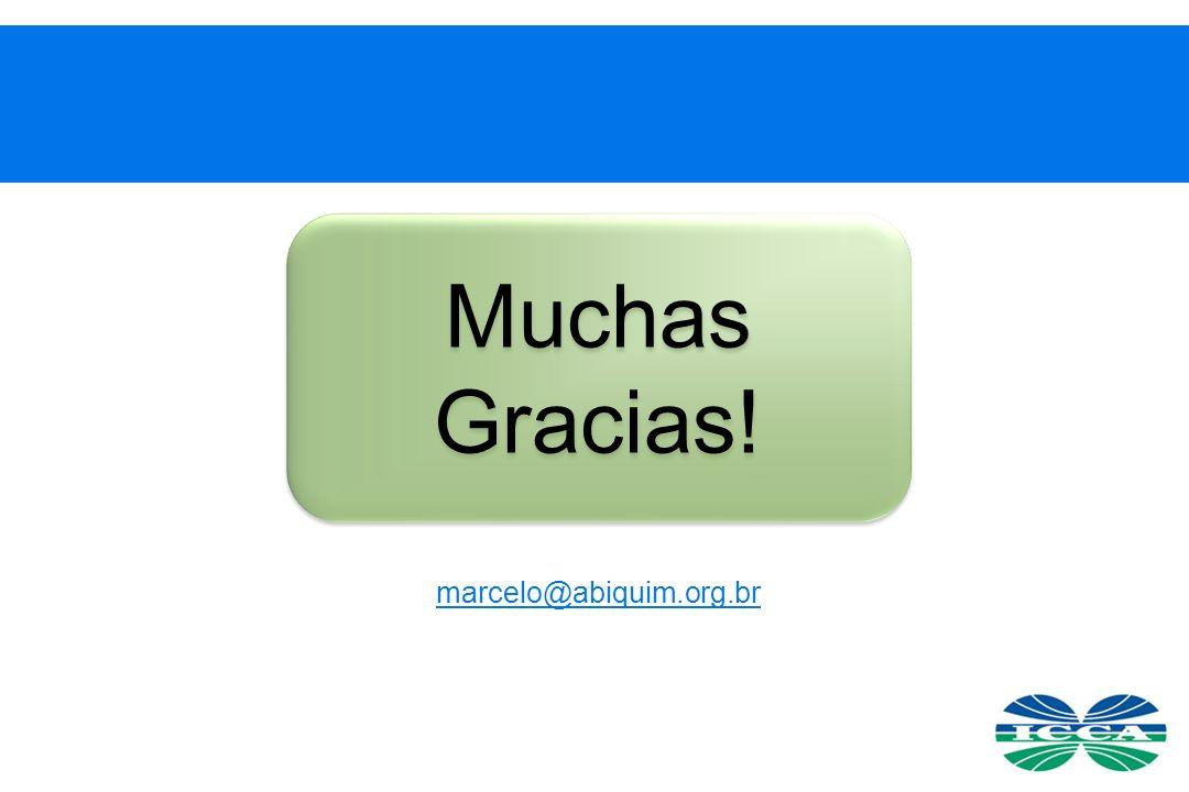 Muchas Gracias! marcelo@abiquim.org.br