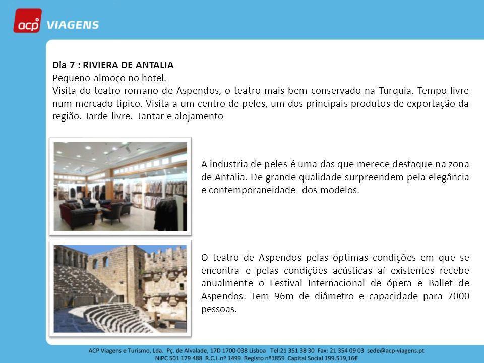Dia 7 : RIVIERA DE ANTALIA