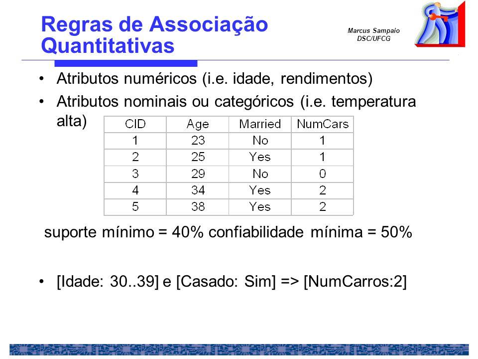 Regras de Associação Quantitativas