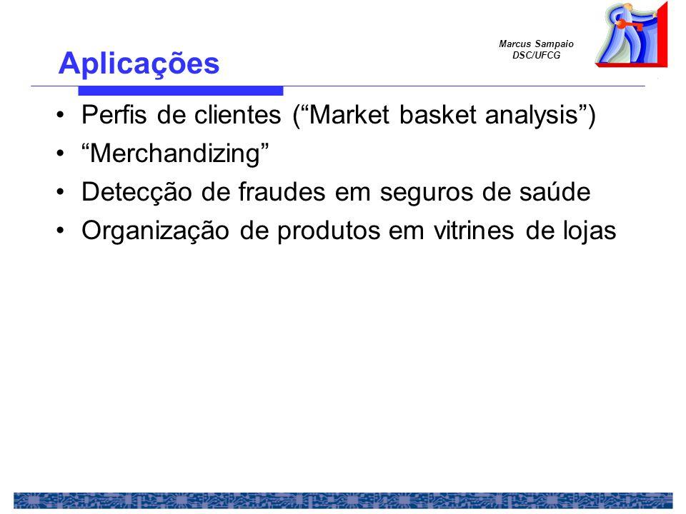 Aplicações Perfis de clientes ( Market basket analysis )