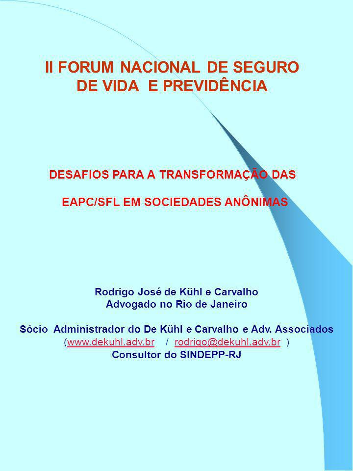 II FORUM NACIONAL DE SEGURO