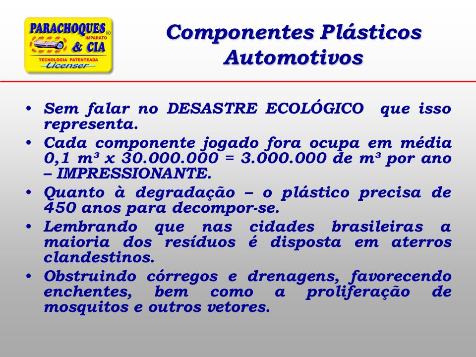 Componentes Plásticos Automotivos