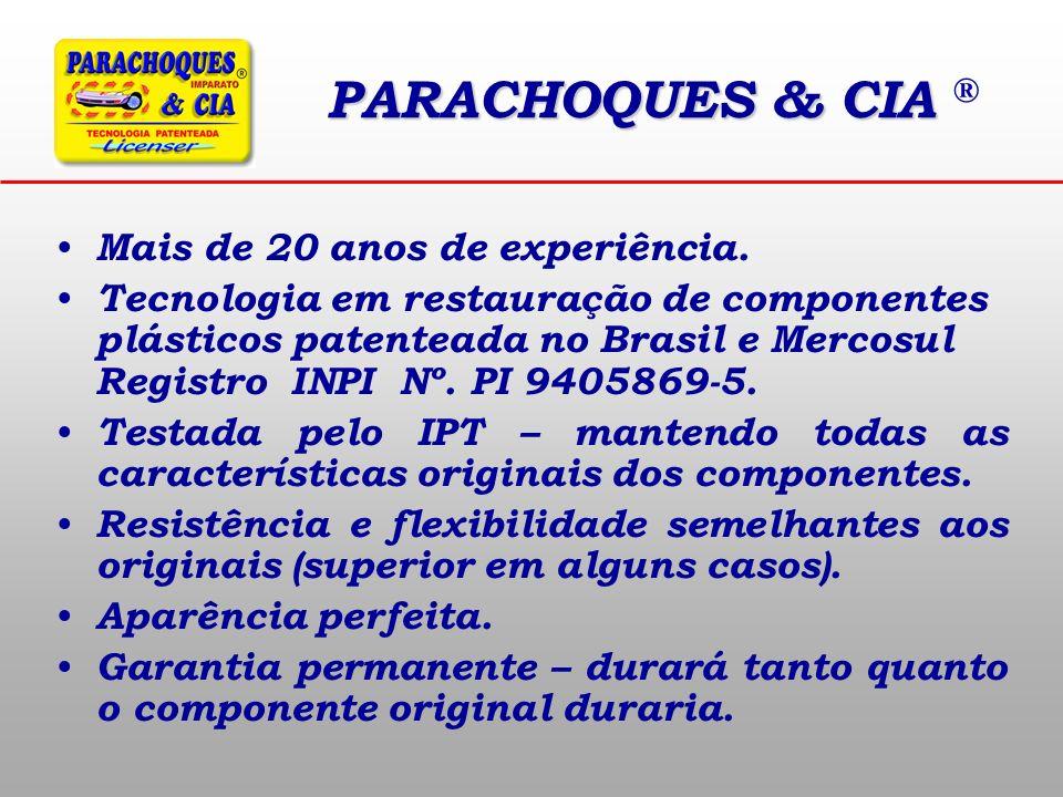 PARACHOQUES & CIA ® Mais de 20 anos de experiência.