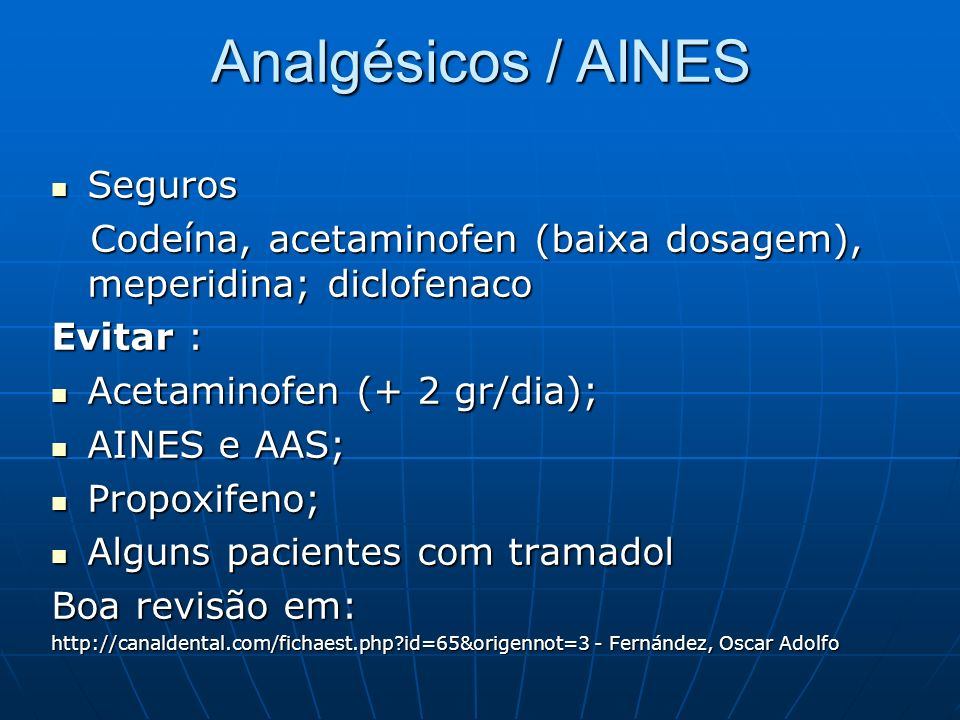 Analgésicos / AINES Seguros