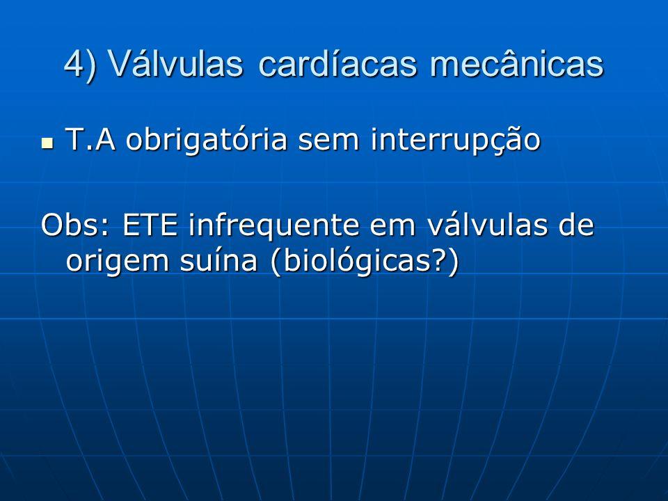 4) Válvulas cardíacas mecânicas