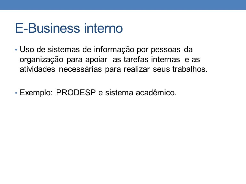 E-Business interno