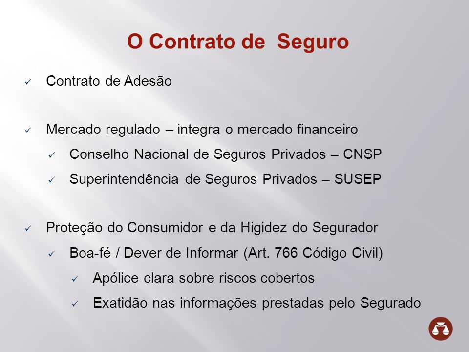 O Contrato de Seguro Contrato de Adesão