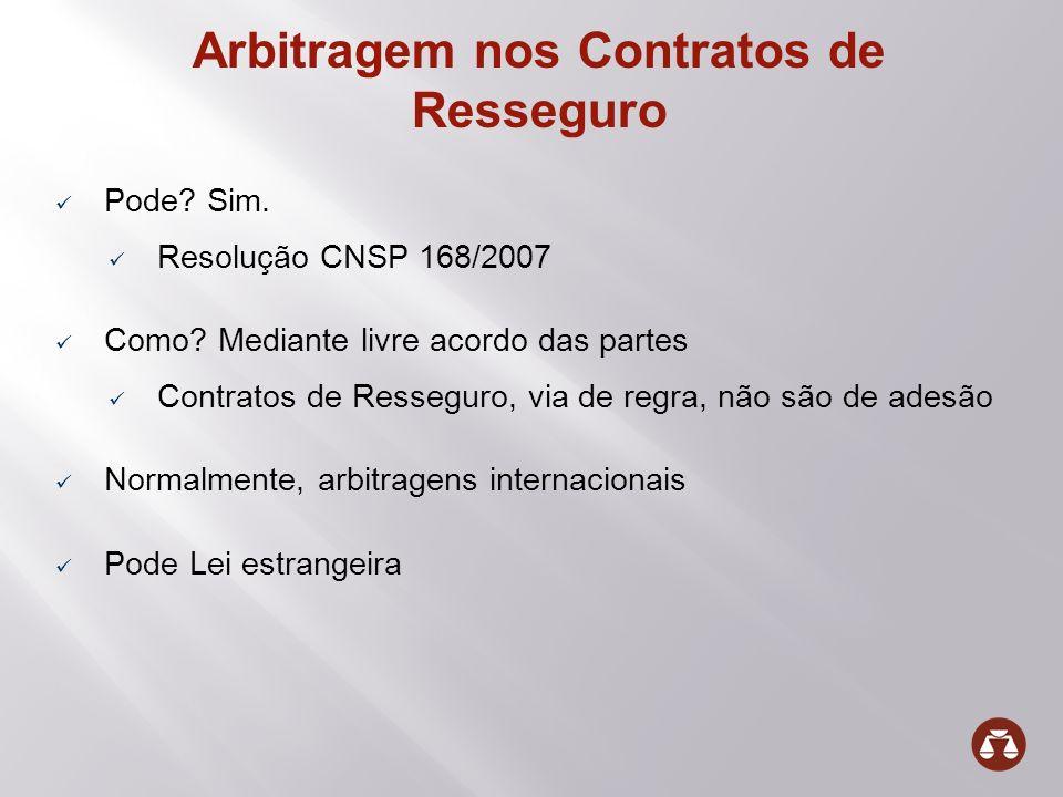 Arbitragem nos Contratos de Resseguro