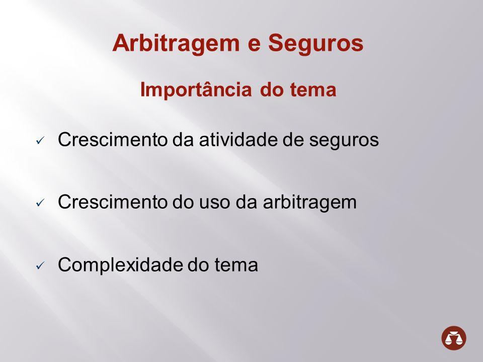 Arbitragem e Seguros Importância do tema