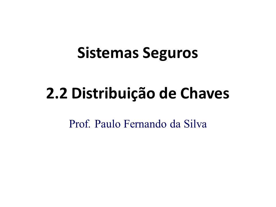 Sistemas Seguros 2.2 Distribuição de Chaves