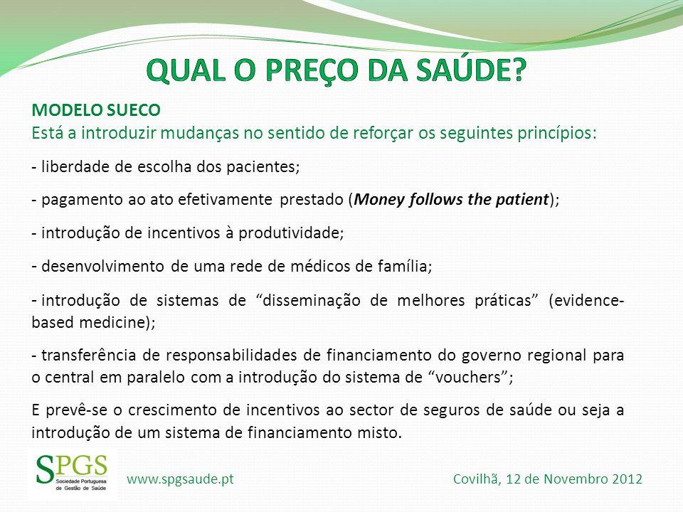 QUAL O PREÇO DA SAÚDE MODELO SUECO