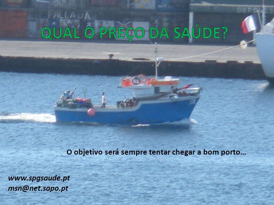 QUAL O PREÇO DA SAÚDE O objetivo será sempre tentar chegar a bom porto… www.spgsaude.pt. msn@net.sapo.pt.