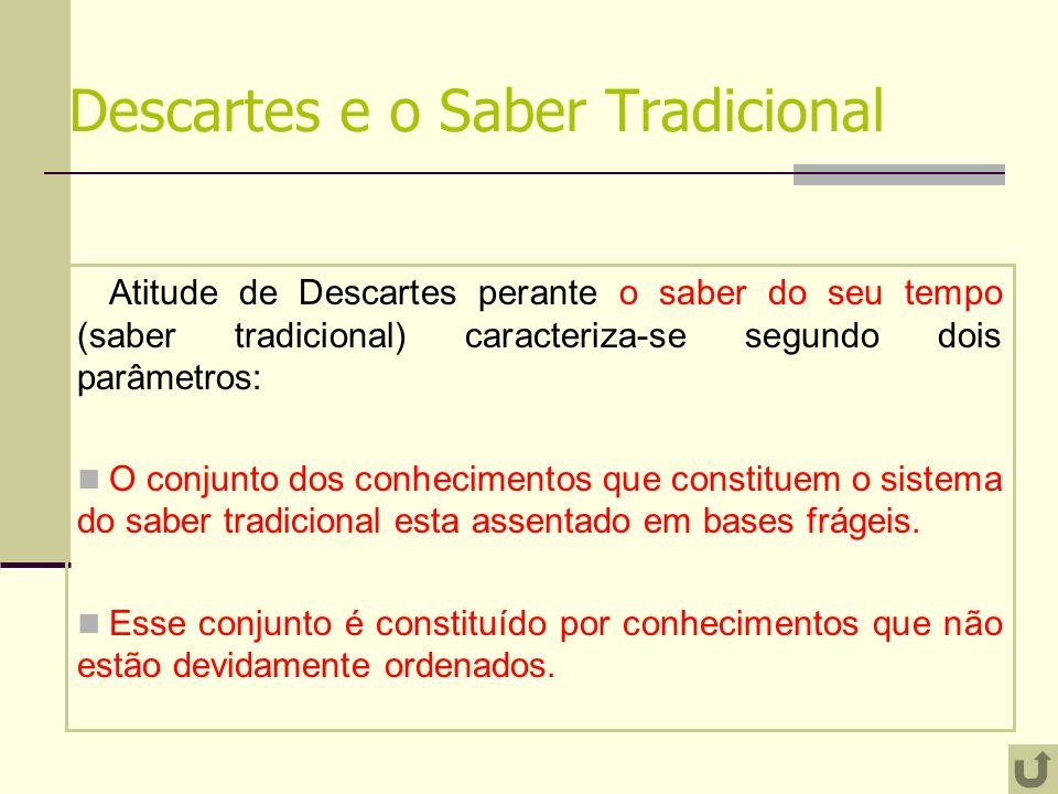 Descartes e o Saber Tradicional
