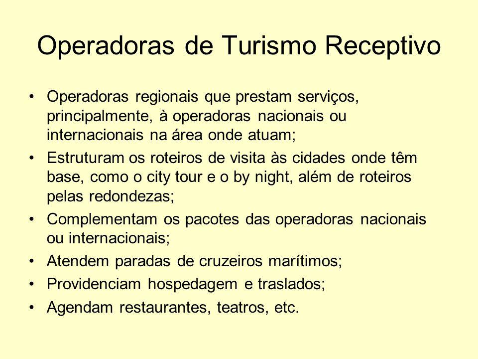 Operadoras de Turismo Receptivo