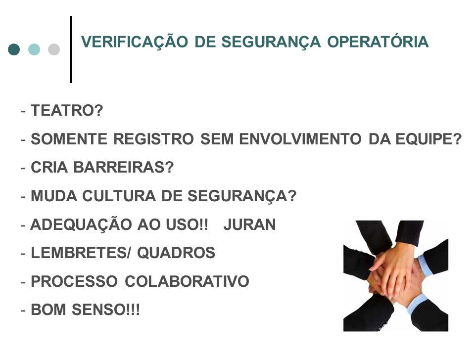 VERIFICAÇÃO DE SEGURANÇA OPERATÓRIA