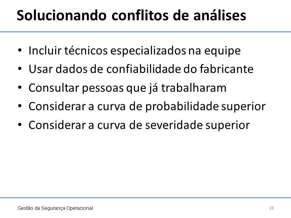 Solucionando conflitos de análises