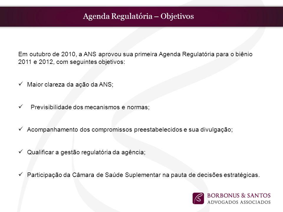 Agenda Regulatória – Objetivos
