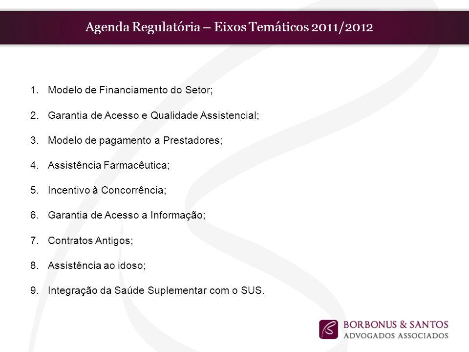 Agenda Regulatória – Eixos Temáticos 2011/2012