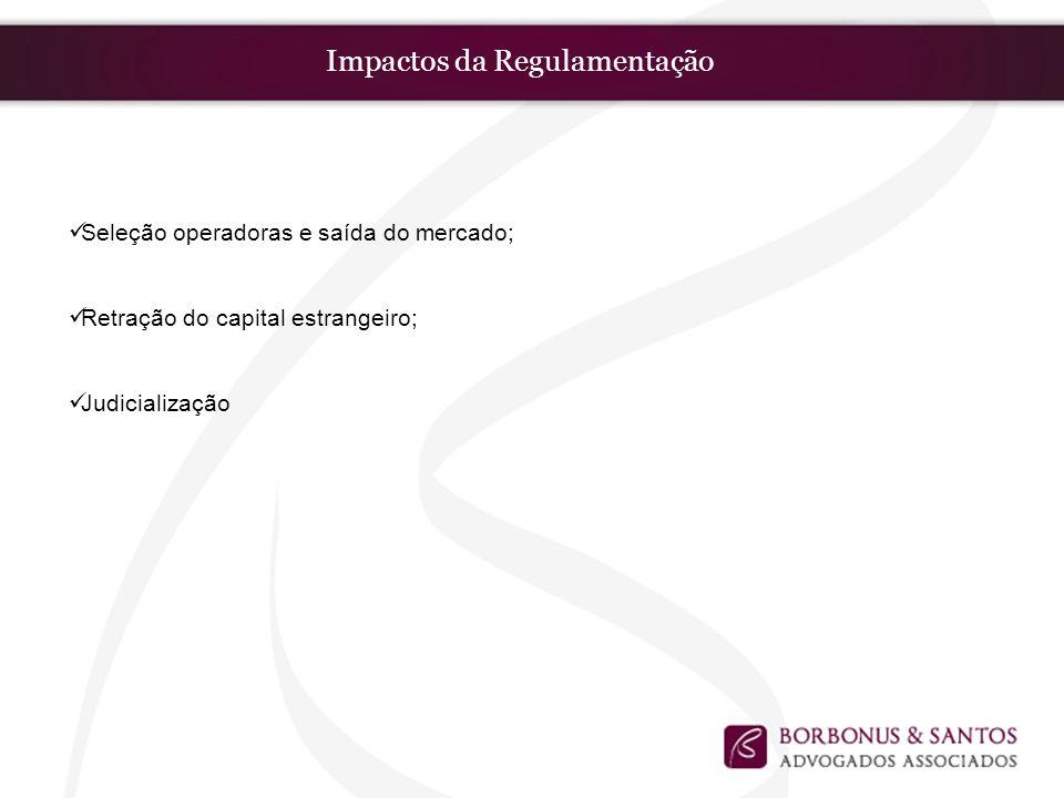 Impactos da Regulamentação